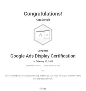 Google Ads Display Cert