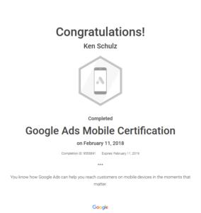 Google Ads Mobile Cert